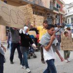 ΗΛΕΙΑ: Πορεία διαμαρτυρίας Σύρων προσφύγων για το φαγητό ( βίντεο – φωτο)